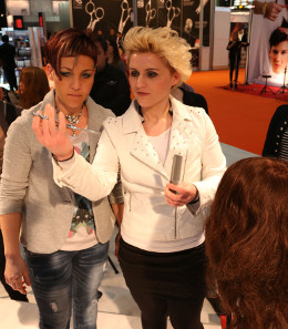 Women at trade fair
